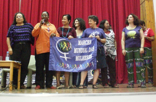 International Committee members during the seminar organized by the Women's Forum, which coordinates the WMW in Mozambique