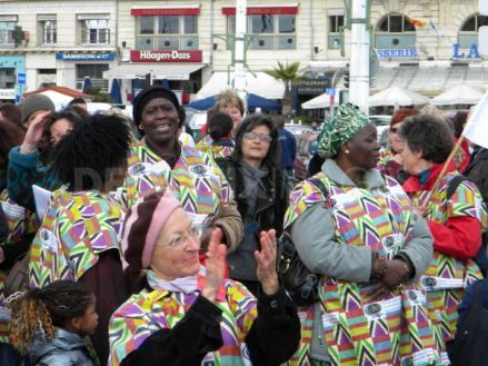 More than 1000 women from 42 countries are gathering in Bukavu, Democratic Republic of Congo, for the closing event of the 3rd International Action of the World March of Women. The local members are celebrating in Marseilles, France, 17/10/2010